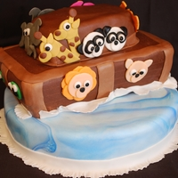 Noah's Ark A Noah's Ark cake for a mother to be of twins: a boy and a girl! The bottom layer is a 10 inch circle, the Ark is made from two...