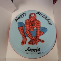 Spiderman Cake Spiderman cake for a 4th birthday party!