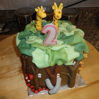Jungle Cake Jungle themed cake for my daughters 2nd birthday. Copied from a book with slight tweeks of my own.