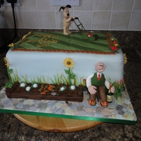 Wallace & Gromit Gardening I made this cake based on something i saw at the cake show but wanted to add some characters to it. My attempts to create people weren&#039...