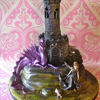 Gothic Tower & Dragon Cake