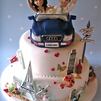 The Grand Tour Wedding Cake