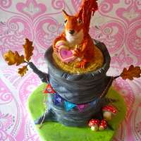 A Squirrel For Daisy A cookie-eating Squirrel cake for Daisy's 5th birthday