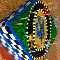 Nascar Cake This cake was for my fiance's birthday this year. While we are not big Nascar fans in our house, it has become a running joke that our...