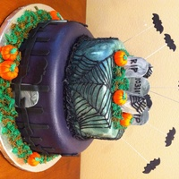 Halloween Cake Halloween is my favorite holiday, so when a friend of my cousin asked me to make a cool Halloween themed cake for her office party, the...