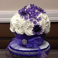 Purple Bouquet Birthday Cake Purple bouquet Birthday Cake