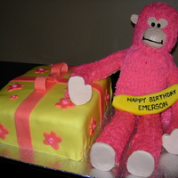Pink Monkey I was given a photo of a child's favorite monkey, this was the result. It was my first time covering a square cake with fondant as you...