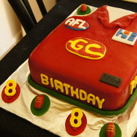 Gold Coast Suns Afl Jersey Gold Coast Suns AFL Jersey - Fondant covered