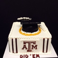 Texas A&m Square Grad Cake