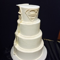 Superman Wedding Cake Superman wedding cake