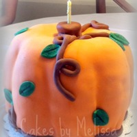Pumpkin Cake This was my first attempt at a pumpkin shaped cake. I used two pumpkin spice bundt cakes with cream cheese frosting in between the layers....
