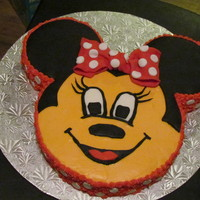 Minnie Mouse Cake This is a minnie mouse cake inspired by joklotz1, it is for my daughters 3rd birthday, and she requested a minnie mouse cake. Thank you...