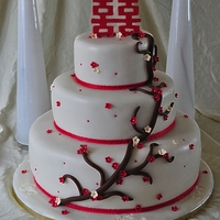 Double Happiness Wedding Cake