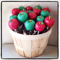 Back To School Apple Cake Pops