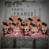 Paris Themed These were for a Paris Themed Sweet Sixteen Party. I made purses, bows and the fleur-de-lis symbol
