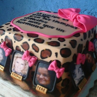 Animal Print B-Day Cake Celebrate your b-day and thank your friends for being there.....