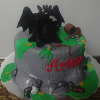 Toothless Birthday Cake AppleMark