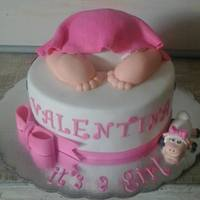 Baby Girl Shower Cake... Once again I was asked to make this lovely cake