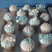 Baby Boy Shower Cupcakes.... White And Blue