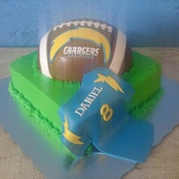 Football Go Chargers Gooo !!! Bday Cake