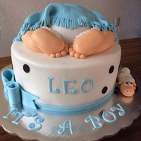 Baby Bo Shower Butt Cake Never get tired making this cake.....