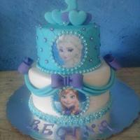 Frozen Bday Cake So girly... loved making this cake