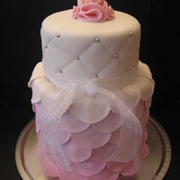 Pink Petals Petal Cake for a Shabby Chic wedding shower