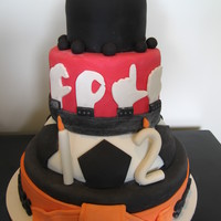 Cole's Cake Sign Language cake for a soccer and baseball loving orange belted rockstar wannabe! Say THAT 5 times fast!
