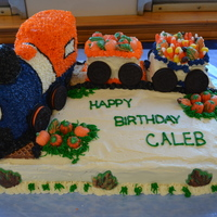 Train Cake   Birthday cake for my 3 year old grandson who loves trains.