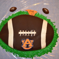 Football Cake My first try at any major fondant work.