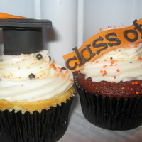 Graduation Cupcakes - School Colors