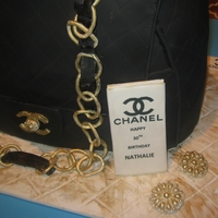 Chanel Purse Cake   MADE THIS CHANEL PURSE FOR A 30TH. BIRTHDAY - EVERYTHING IS EDIBLE
