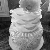 Wave And Ruffle Cake