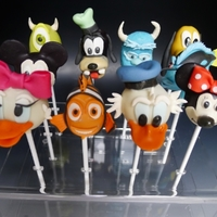 Disney Cake Pops For A Little Girls Journey To Disneyland For Her Birthday Disney Cake Pops for a little girls Journey to Disneyland for her Birthday