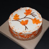 Thanksgiving Leaves Cake I made for a Thanksgiving dinner.