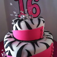 Sweet 16   Bling Sweet 16 Birthday cake.