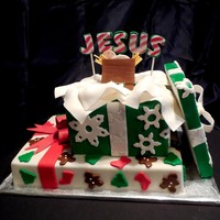 The Best Gift Of All A stacked gift cake made with love for our special needs ministry Christmas party.