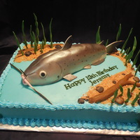 Channel Cakefish Cake   A channel catfish cake made with love for my sweet son's 13th birthday.