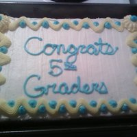 Caleb's 5Th Grade Grad Cake My younger brother asked me to make a cake for his class for the last day of school....He didn't mention it till around 10PM.....Might...