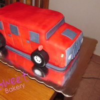 Chocolate Hummer Cake My first 3D cake!! hummer shaped :D