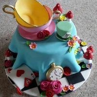 Mad Hatter's Tea Party Cake Mad Hatter's tea party cake