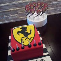 Ferrari Cake And Matching Cake Pops Ferrari cake and matching cake pops