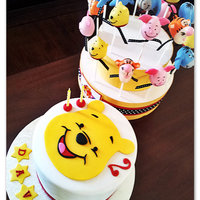 Winnie The Pooh Cake And Matching Cake Pops Winnie the Pooh cake and matching cake pops