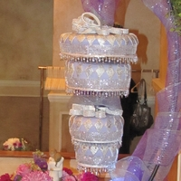 Chandelier Wedding Cake Hanging Chandelier Cake. Chocolate Blackout cake and Red Velvet