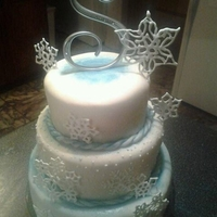 Winter Birthday I made this cake for my daughter's Winter Wonderland birthday party. I piped the snowflakes with royal icing and placed them on the...