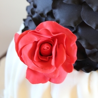 Red, White & Black Cake