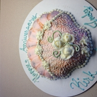 Anniversary Seashell   Chocolate cake with buttercream frosting