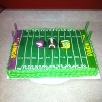 Packer/vikings I used modeling chocolate for the field, posts and helmets. Gooooooo Packers! I know I live in MN : )
