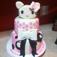 Hello Kitty I used fondant for everything except the bow