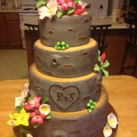 Woodland Wedding Cake Made With Modeling Chocolate And Fondant   Woodland wedding cake! Made with modeling chocolate and fondant : )